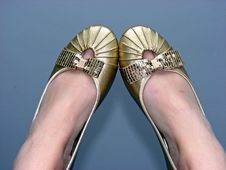 Free Gold Slippers Stock Images - 4367024