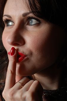Free Flirting Woman Stock Photography - 4367082