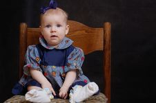 Free Baby On A Chair Stock Photo - 4367480