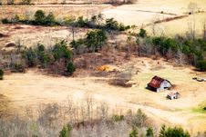 Free Barn In The Valley Stock Image - 4367721