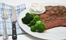 Free Beek Steak Dinner Royalty Free Stock Photos - 4367898