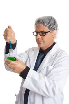 Free Scientist With Laboratory Sample Stock Image - 4368221