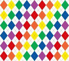 Free Rainbow Argyle Stock Photo - 4368720