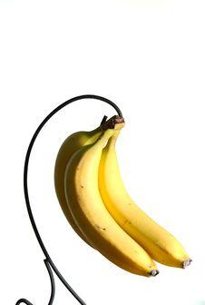 Free Bananas On White. Stock Photos - 4368923