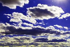 Sunbeams On Blue 02 Royalty Free Stock Images