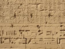 Free Hieroglyphs In Karnak Temple Royalty Free Stock Photo - 4369425