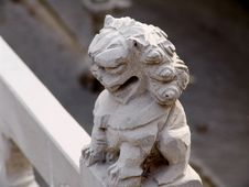 Stone Carving Lion Stock Image