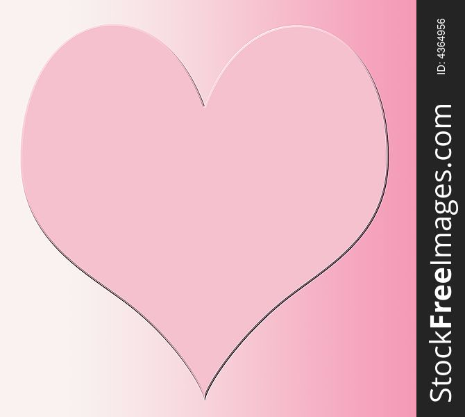 Pink Heart Square Background Abstract