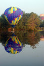Free Hot Air Balloon Touching The Water Stock Photos - 4377553