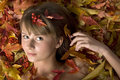 Free Autumn Leaves Girl Royalty Free Stock Photo - 4379715