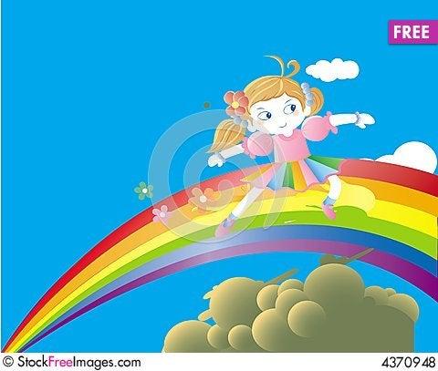 Free Sky Girls Royalty Free Stock Photos - 4370948