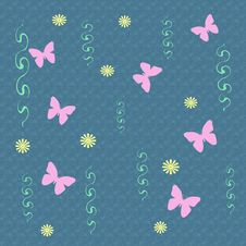 Pink Butterflies Gift Bag Royalty Free Stock Image