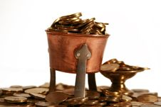 Free Coins In The Cup Stock Image - 4370351
