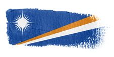 Brushstroke Flag Marshall Islands