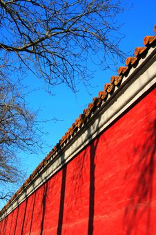 Free Red Wall Royalty Free Stock Photography - 4371237