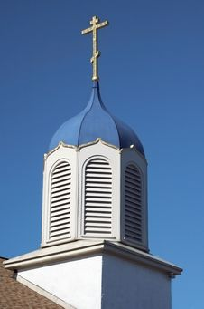 Free Church Steeple Against A Blue Sky Stock Photos - 4371243