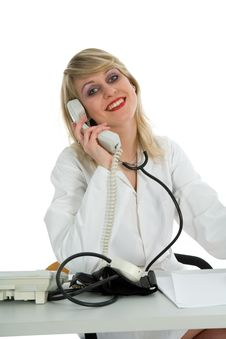 Free Young Doctor With Stethoscope Stock Photo - 4372040