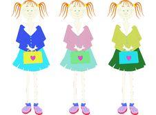 Free Schoolgirls Stock Photo - 4372070