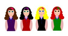 Free Brown, Brunette, Blond And Red Stock Photography - 4372602