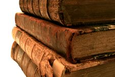 Free Stack Of Old Books. Royalty Free Stock Photo - 4373405