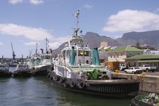 Free Tug Boats In Cape Town Harbour. Royalty Free Stock Photography - 4374257