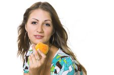 Free The  Girl With A Fruit Stock Photos - 4374333