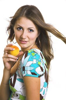 Free The  Girl With A Fruit Stock Photo - 4374370