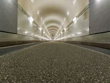 Free Tunnel In Hamburg, Under The Elbe Stock Images - 4374954