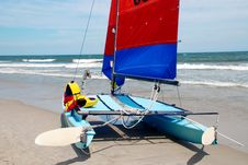 Free Catamaran On The Beach Stock Photography - 4375482