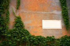 Free Panel On An Old Wall Royalty Free Stock Photo - 4375545