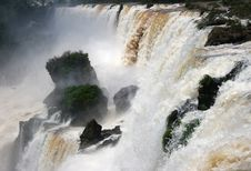 Free Iguazu Waterfall Rapids Royalty Free Stock Image - 4375726