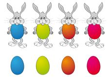Free Easter Egg Bunny Background Royalty Free Stock Photo - 4376255