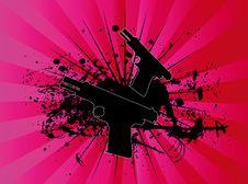 Free Exploding Pistol Royalty Free Stock Image - 4376386