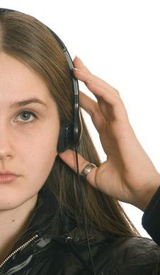 Free Young  Girl In  Headphone Royalty Free Stock Photography - 4376397