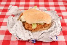 Free Crispy Chicken Burger Stock Images - 4376424