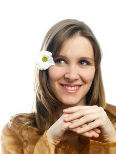 Free Girl With Flower Royalty Free Stock Photo - 4376725