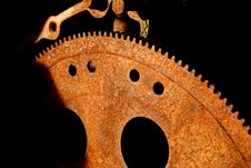 Free Rusty Gears In Junk Yard Stock Photography - 4376992