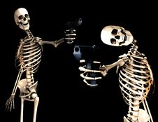 Free Skeletons And Guns Shoot Royalty Free Stock Images - 4377589