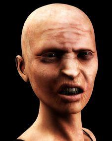 Free Bald Zombie Women Stock Photos - 4377743