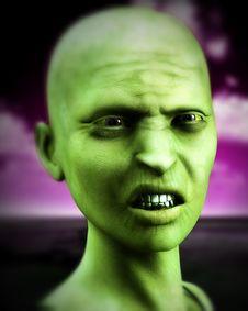 Free Bald Zombie Women Stock Photos - 4377753