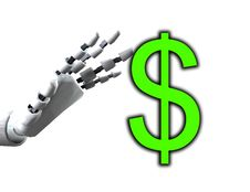 Free Robo Hand And Dollar Stock Photo - 4377810