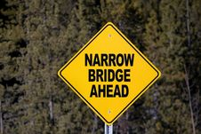 Free Narrow Bridge Ahead Stock Photos - 4378173