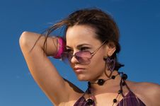 Free Fashion Model With Sunglasses Stock Photo - 4378270