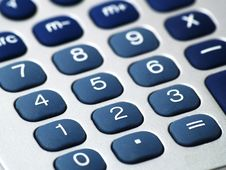 Free Calculator Buttons Royalty Free Stock Image - 4378356