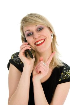 Free Business Woman Calling Royalty Free Stock Photos - 4378468