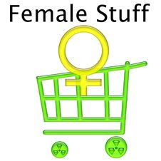 Female Stuff Cart Stock Photography