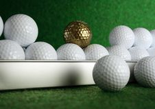 Free Golfball In Gold Royalty Free Stock Photos - 4378688