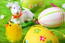 Free Pastel And Colored Easter Eggs Royalty Free Stock Photo - 4379205