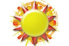 Sun Button Royalty Free Stock Image