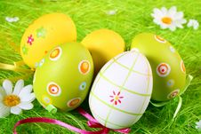 Free Pastel And Colored Easter Eggs Stock Photos - 4379263